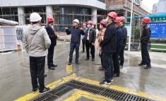 成华区人大代表调研我院龙潭医院建设项目现场